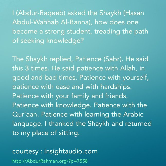 how does one become a strong student, treading the path of seeking knowledg