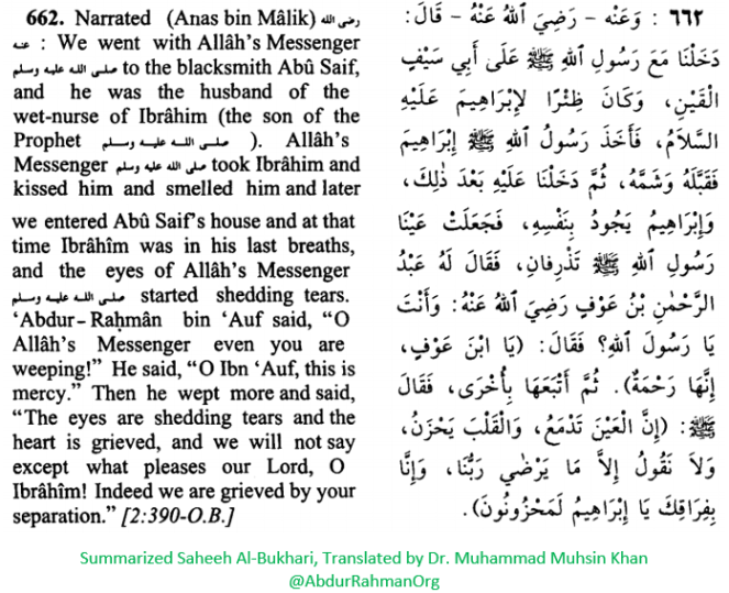 O Allah's Messenger even you are weeping!